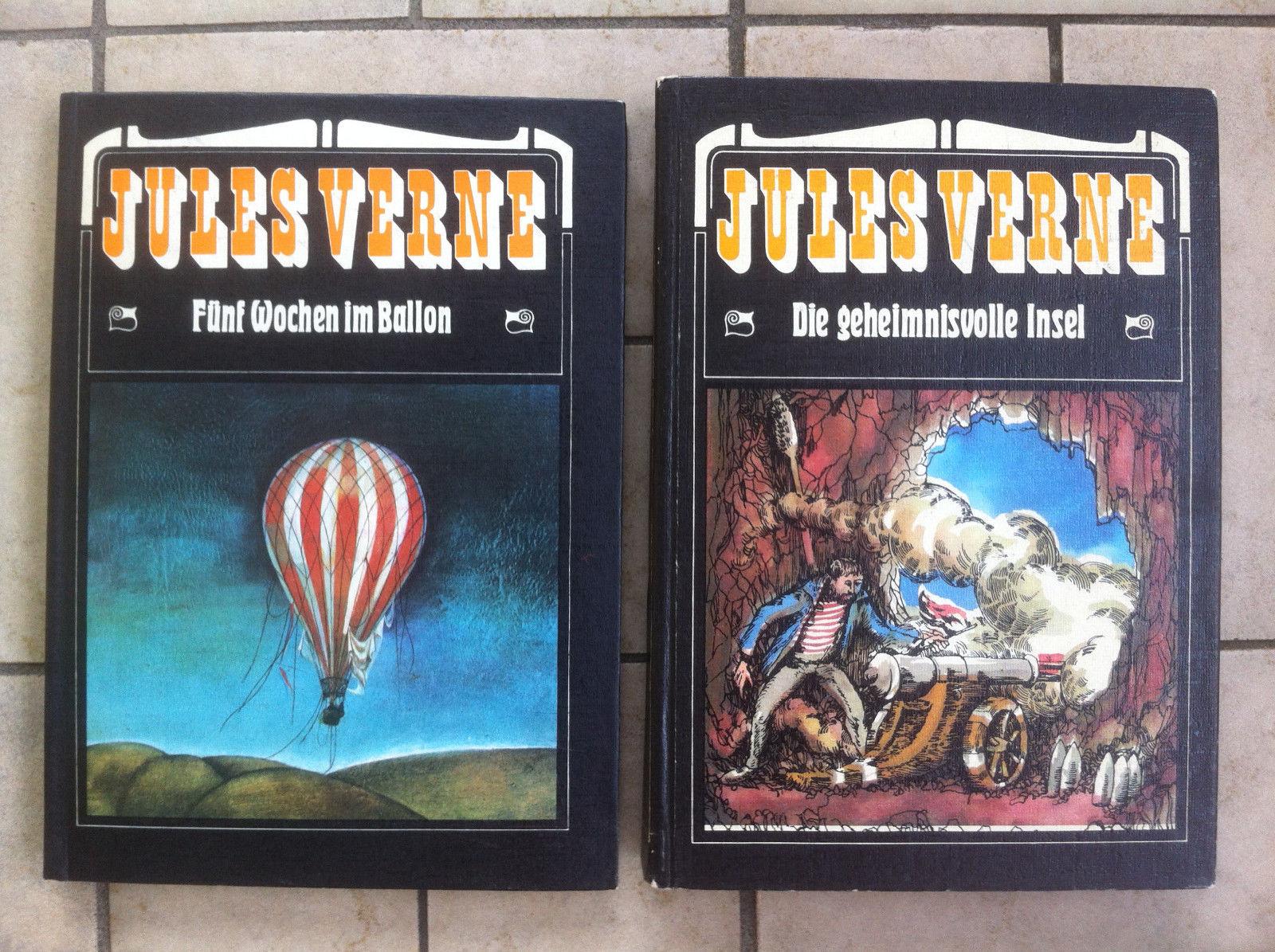 Abenteuer Buch Konvolut Sammlung Jules Verne, 25 Bücher, davon 6 Taschenbücher