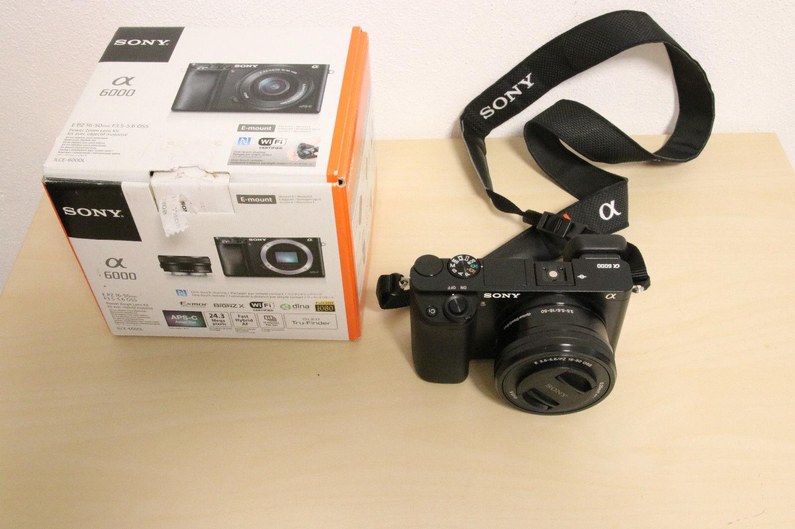 Sony Alpha ILCE-6000L 24.3 MP SLR-Digitalkamera - Schwarz (Kit m/ E PZ...