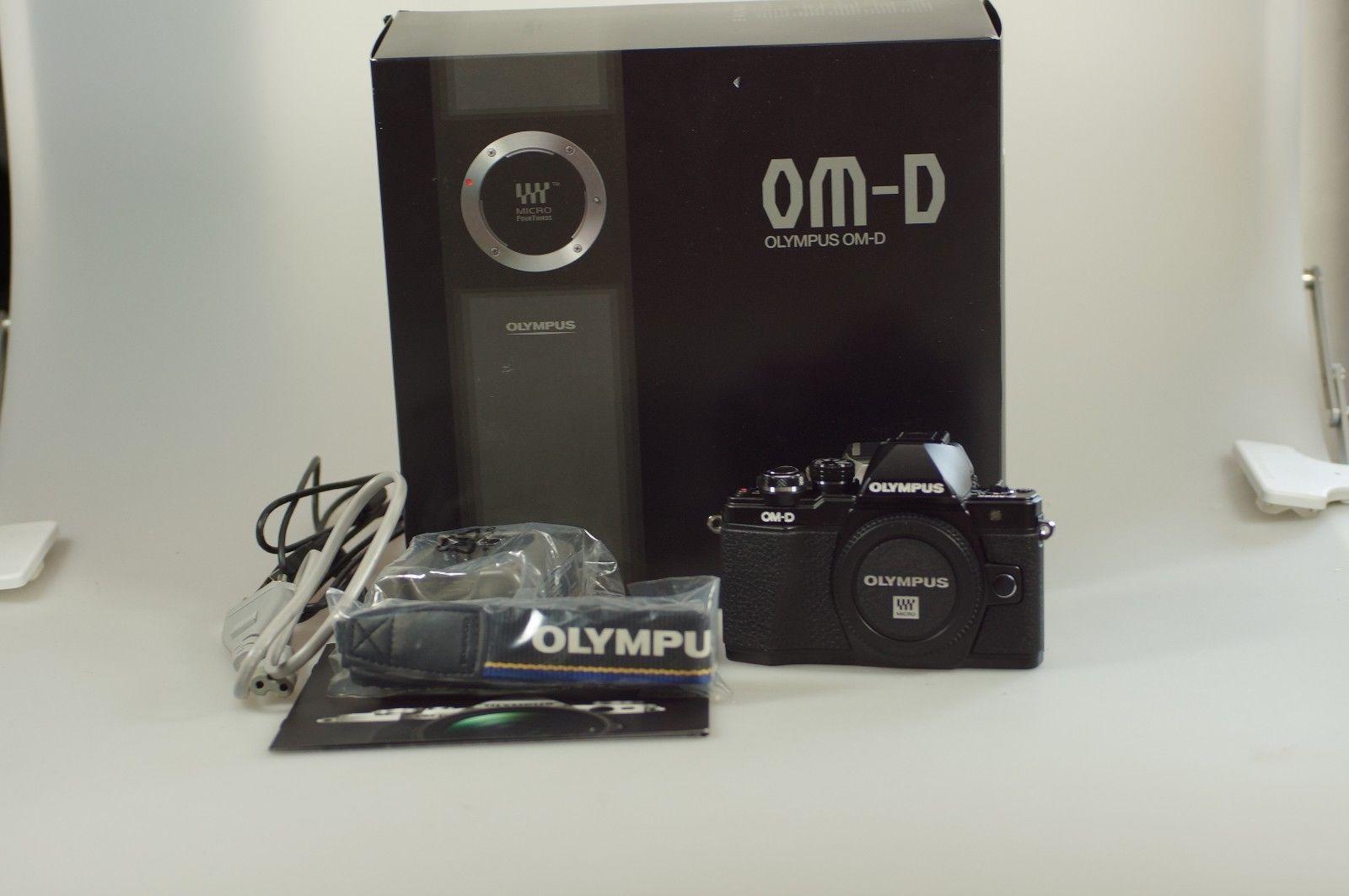 Olympus Om D E M10 Mark Ii Schwarz Gehuse Neuwertig In Ovp Kit 40 150mm Paket 2 Nur