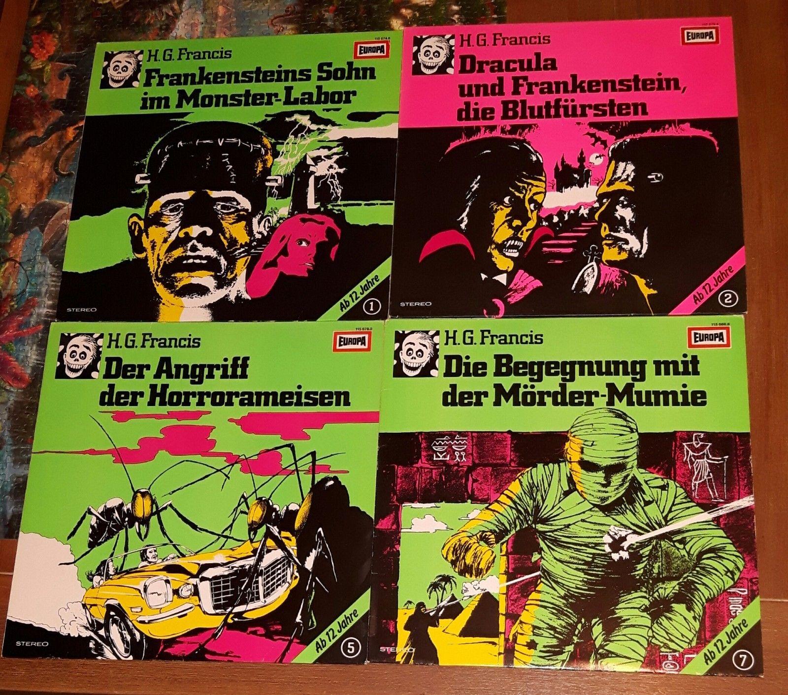 H.G. Francis Hörspiele Vinyl/LP/Schallplatten Europa