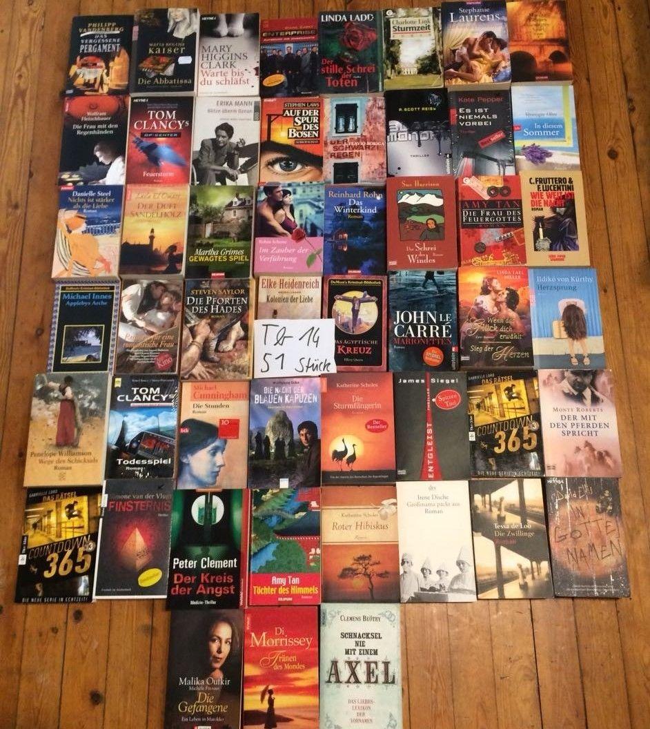 (Tb14) 51 Thriller Krimi Romane Bücher Bestseller - Konvolut - Sammlung - Paket