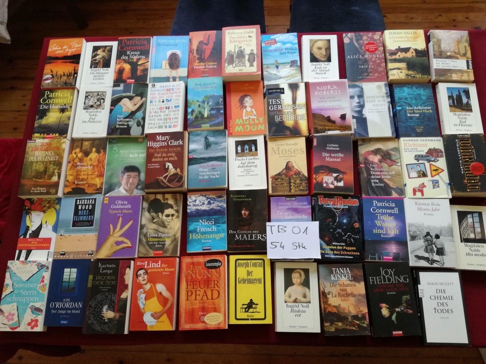 (Tb01) 54 Thriller Krimi Romane Bücher Bestseller - Konvolut - Sammlung - Paket