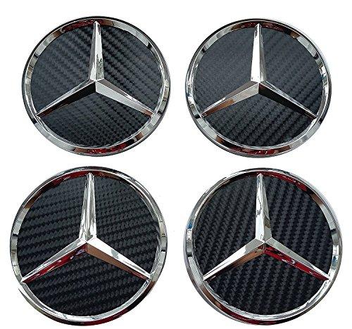4x Kappen Nabendeckel Felgendeckel Nabenkappen Logo Mercedes-75mm–Klasse A B C Und CLK GL M ML SLK–für Nieten Felgen Legierung