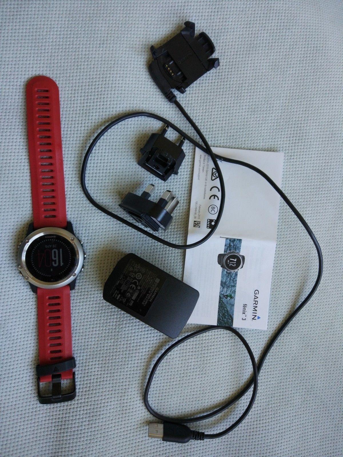 GARMIN fenix 3, GPS Sportuhr, silber