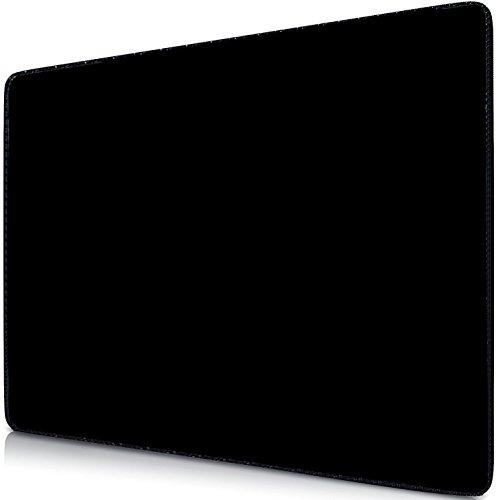 Sidorenko Gaming Mauspad   Mousepad 240 x 200 mm   Fransenfreie Ränder   spezielle Oberfläche verbessert Geschwindigkeit und Präzision   Rutschfest   schwarz