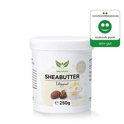 Pure Sheabutter 250g Unraffiniert Kaltgepresst Shea Butter Karite Kosmetik Creme