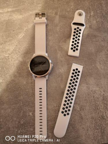 garmin vivoactive 3 weiß GPS 8tage Akku plus applewatch Armband wie neu