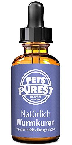 Pets Purest 100% natürliches Anti-Parasit Wurmkuren für Hunde, Katzen, Geflügel, Vögel, Kaninchen u. Haustiere. Entfernt effektiv alle Würmer, Spulwurm, Hakenwurm, Whipworm & Bandwurm. 1-2 Jahre Vorrat