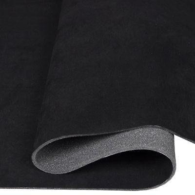 Microfaser Alicante Autostoff Himmelstoff Wildleder kaschiert schwarz T132_09