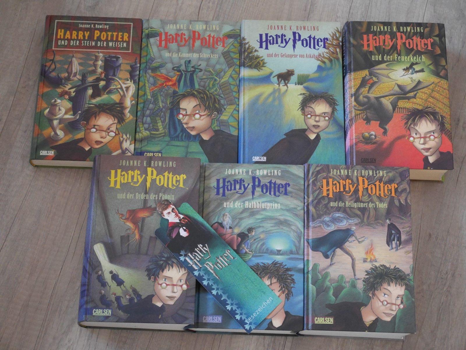Harry Potter Bücher Komplett 1-7 gebunden +Lesezeichen