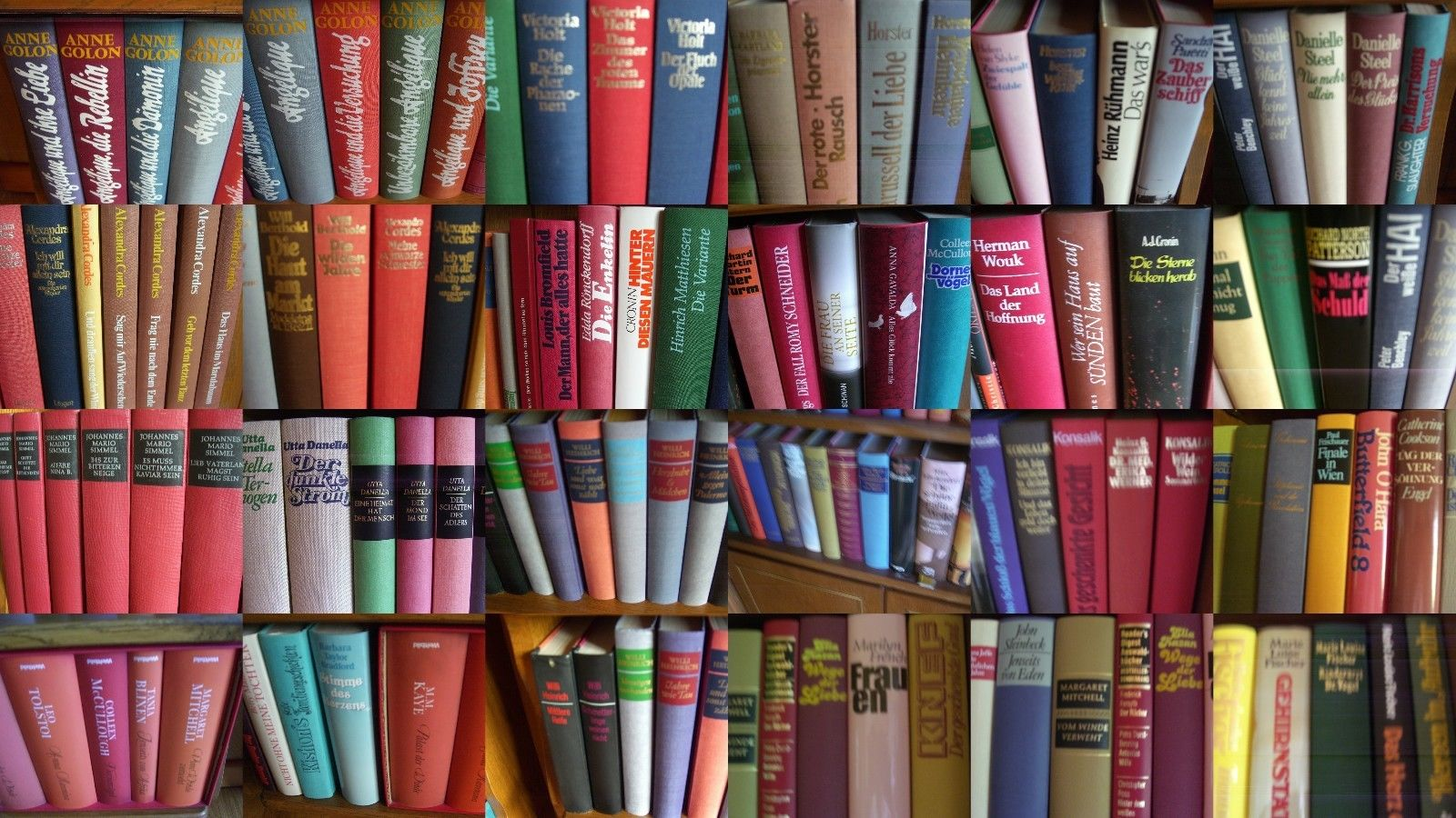 riesiges Konvolut ca. 400 geb. Bücher, u.a. Frauenliteratur, Romane, Klassiker