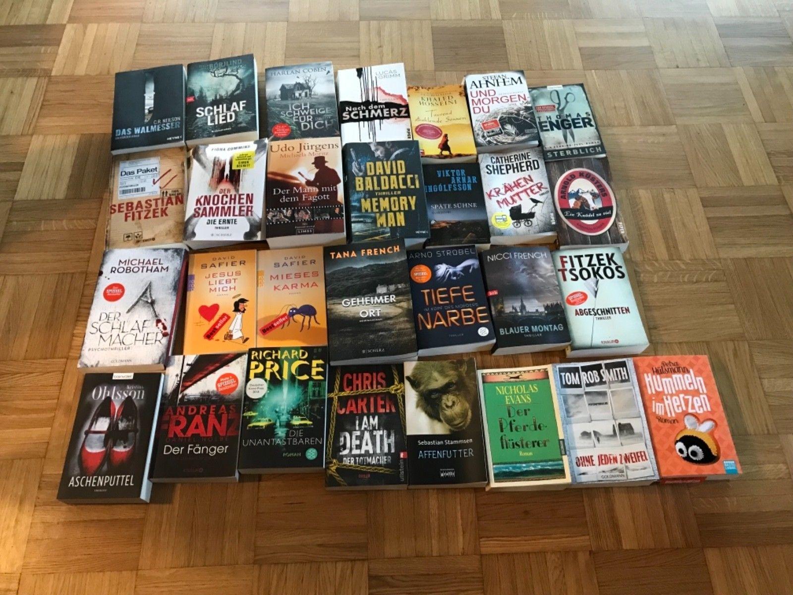 Bücherpaket Thriller, Krimis, u.v.m. z.B. Baldacci , Fitzek, Franz
