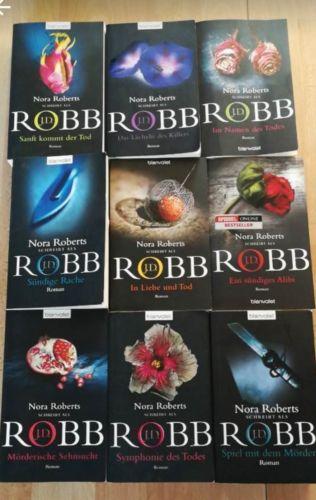 Bücher Paket Robb Nora Roberts 9 Stück Krimi Thriller Buch