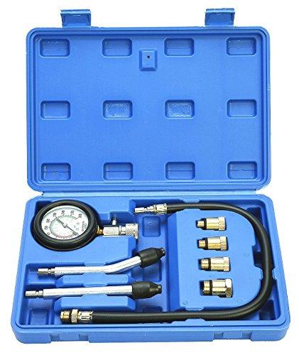 FreeTec Kompressionsmesser Kompressionstester Kompressionsprüfer Testgerät Benzinmotor 0-20 bar oder 0-300 psi Verdichtungsmesser