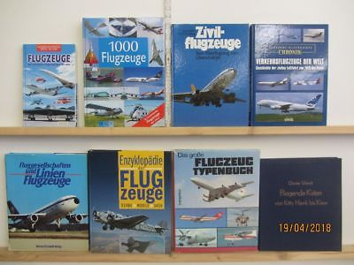 24 Bücher Bildbände Flugzeuge Fliegen  Fluggeschichte Flugzeugtypen Fliegen