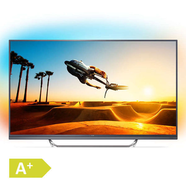 Philips 164cm 65 Zoll Ultra HD 4K LED Fernseher 3fach Ambilight Android TV WLAN