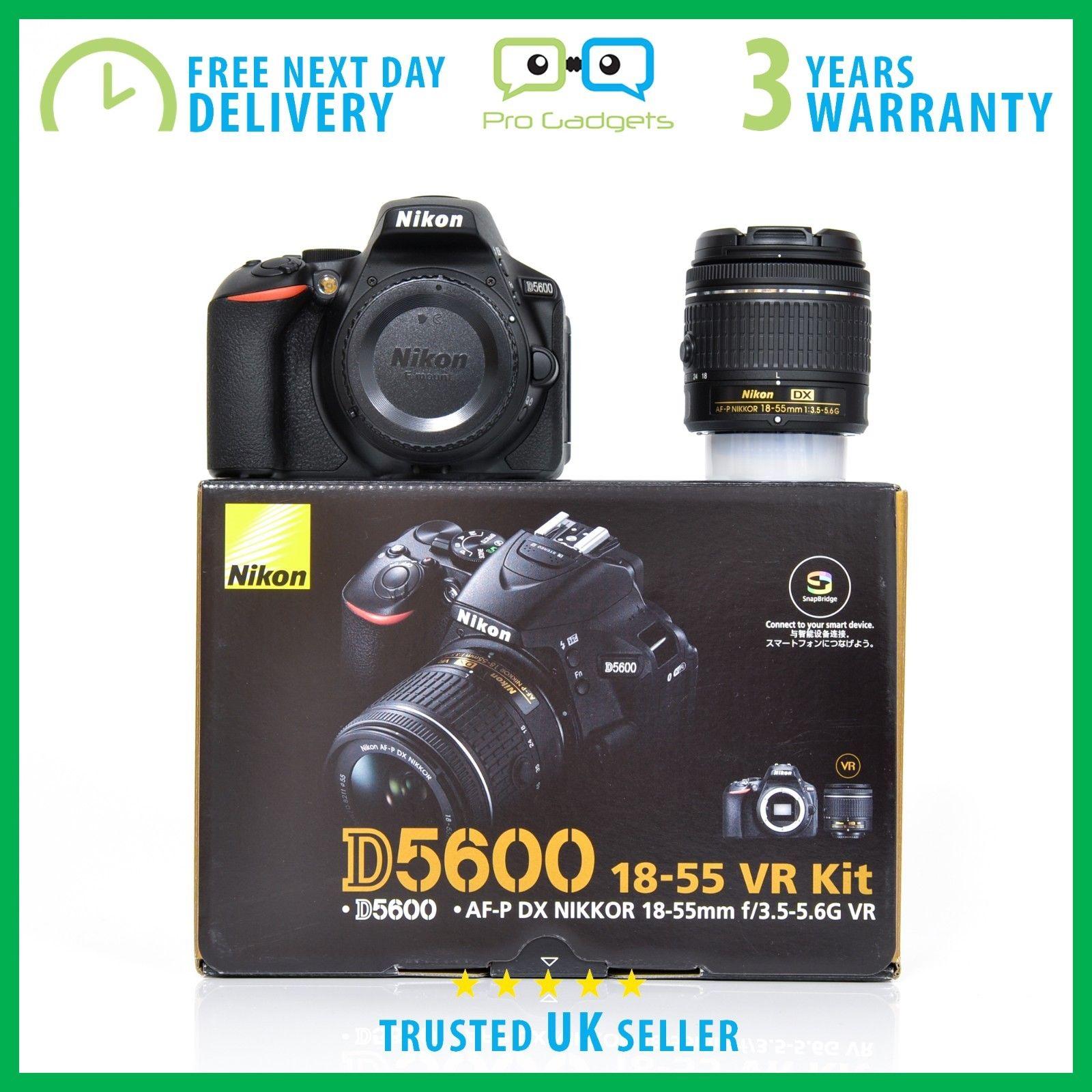 Nikon D5600 Kit with AF-P DX NIKKOR 18-55mm f/3.5-5.6G VR Lens - 3 Year Warranty