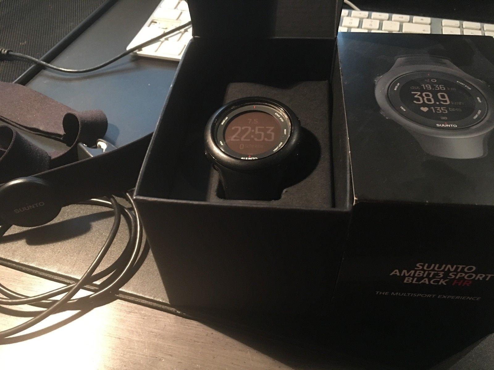 Suunto Ambit3 Black (HR) Sportuhr GPS-Watch mit OVP