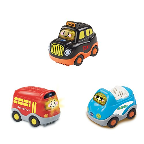 Vtech Baby 80-241204 - Tut Baby Flitzer - 3-er Set Reisefahrzeuge (Taxi, Reisebus, Cabrio),