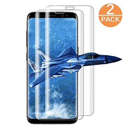 Panzerglas für Samsung Galaxy S8 / S9, [2 stück] Panzerfolie Displayschutzfolie für S8 / S9, Ultra Transparenz Full HD, Anti-Fingerabdruck, Blasenfrei, Hohe Qualität Folie Schutzfolie für Galaxy S8 / S9