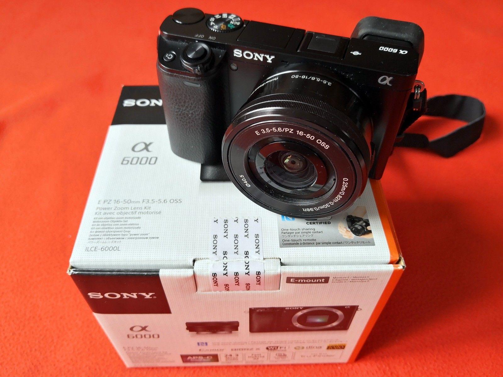 Sony Alpha ILCE 6000 24.3 MP SLR-Digitalkamera schwarz mit  SEL-P1650 Objektiv