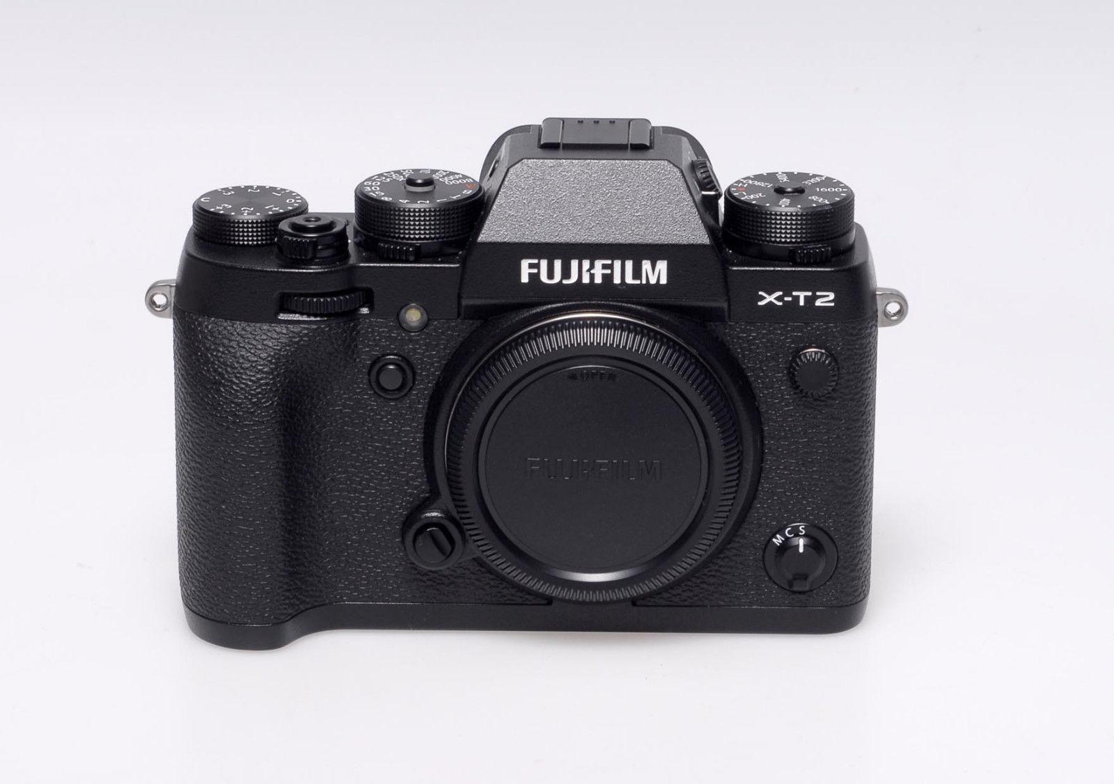 Fujifilm X series X-T2 Digitalkamera - Schwarz - mit Blitz EF-X8 - gebraucht