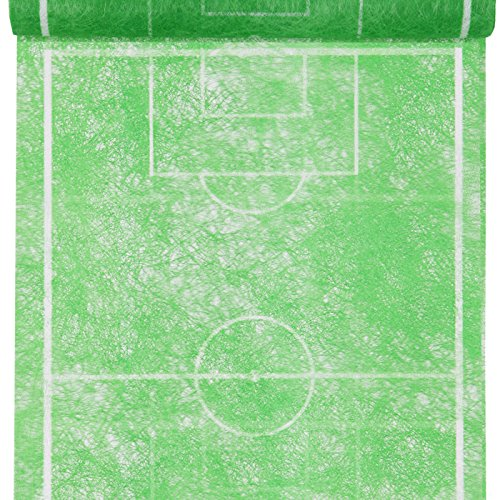 Tischläufer Fussballfeld grün, 30 cm, 5 m Rolle, Fußball Party