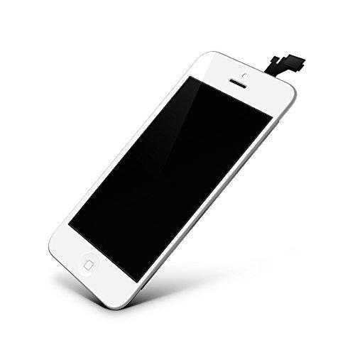GIGA Fixxoo iPhone 5 LCD Touchscreen Retina Display Ersatz in Weiß für Einfache Reparatur, FaceTime Kamera, 100% Kompatibel mit Apple (kein Set)