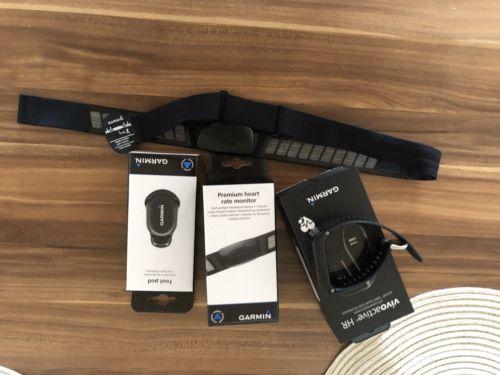 Garmin Vivoactive HR GPS Fitness Tracker Garantie mit Brustgurt Laufsensor