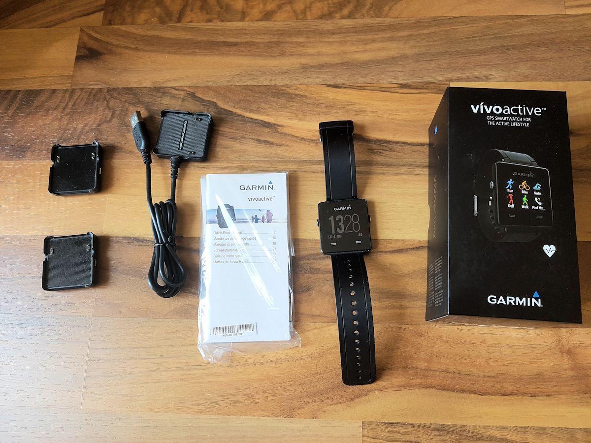Garmin vivoactive Sport GPS-Smartwatch -mit premium Herzfrequenz-Brustgurt - OVP