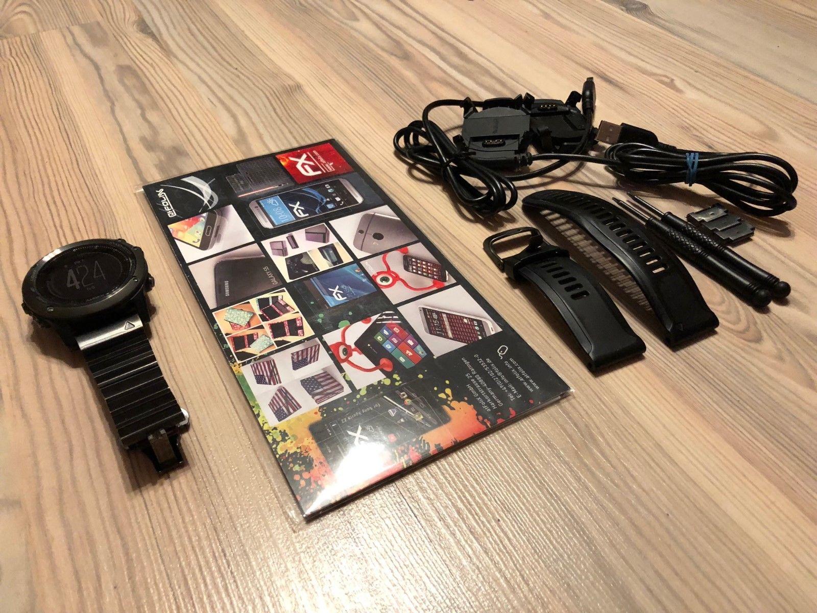 Fenix 3 HR Saphir grau - Sportuhr schwarz