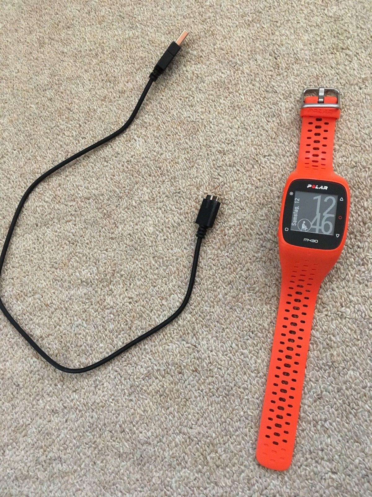 Polar M430 GPS-Laufuhr Pulsuhr orange, gebraucht, Top Zustand, Gr M/L