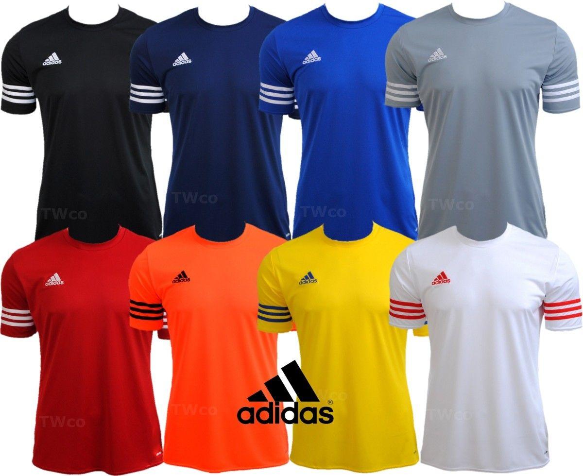 Mens Adidas Climalite Crew Training Gym Football T-Shirt Top Size S M L XL 2XL
