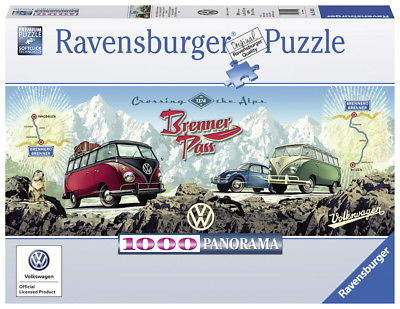 1000 Teile Ravensburger Puzzle Panorama VW Volkswagen VW Bulli Brenner 15102