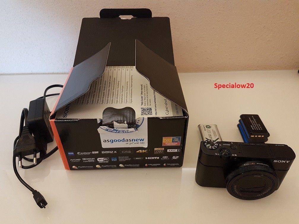 Sony Cyber-shot DSC-RX100 IV Mark 4 20.1MP Schwarz DSC-RX100M4 4K + Garantie