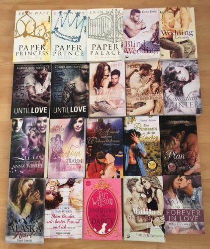 20x Bücher TB *Erotik*Liebesromane*Lovestory*TOP ZUSTAND!!!*Erin Watt*Skye Leech