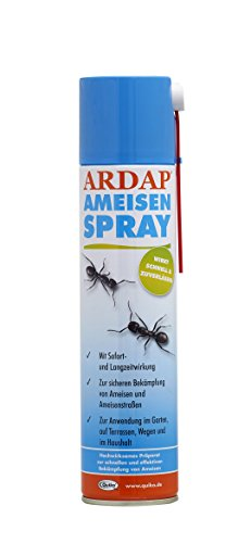 ARDAP Ameisenspray / Fraß- und Kontaktinsektizid mit Sofort- und Langzeitwirkung zur Bekämpfung von Ameisen, Ameisenstraßen & weiteren Schädlingen / 1 x 400 ml