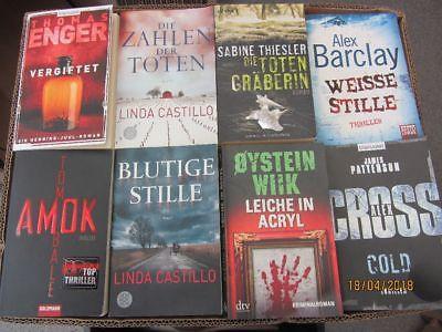 55 Bücher Romane Krimi Thriller Psychothriller  Top Titel Bestseller Paket 1