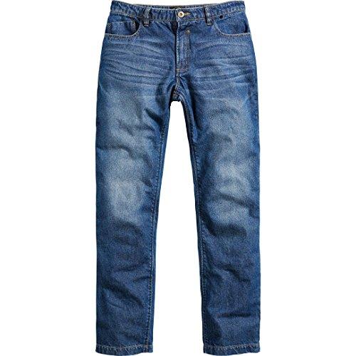 Spirit Motors Motorradjeans, Motorradhose Herren Jeans mit Schutzfunktion, 5-Pocket-Jeans im Boot-Cut Style, Taschen für Knieprotektoren, abriebfeste Aramid-/Baumwolljeans 1.0, blau, 36/32