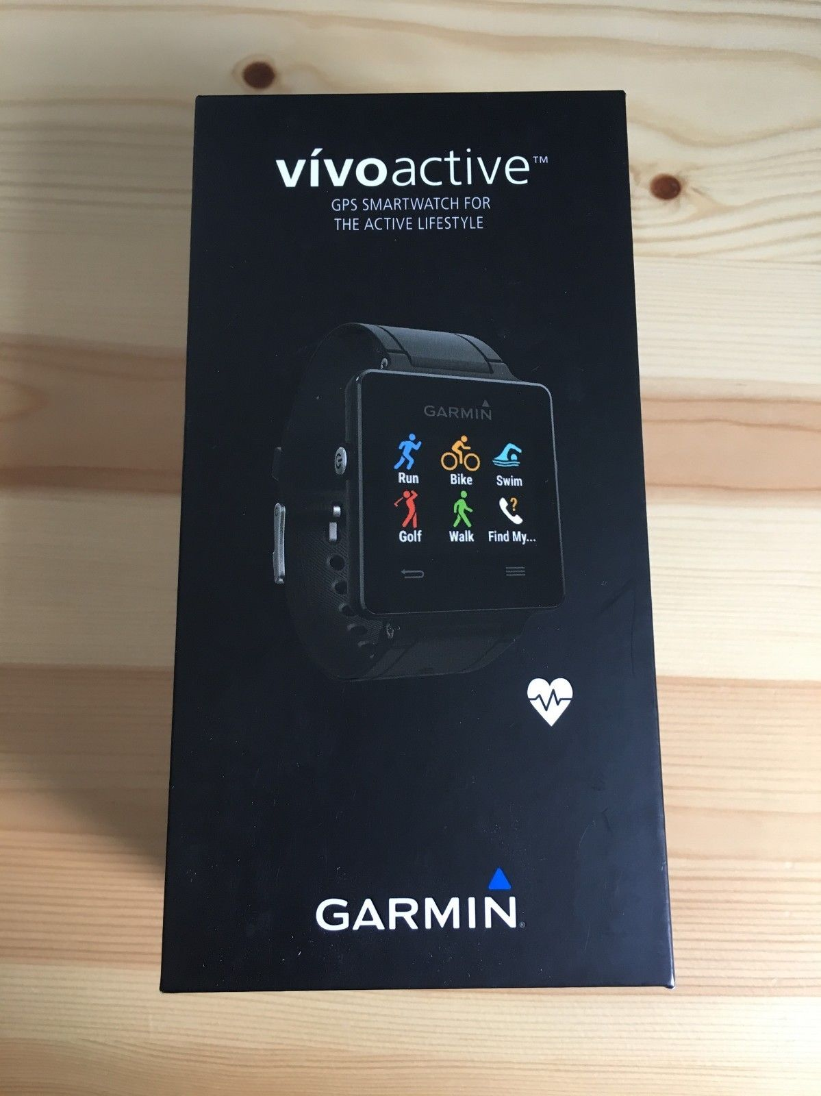 Garmin vivoactive Sport GPS-Smartwatch, schwarz