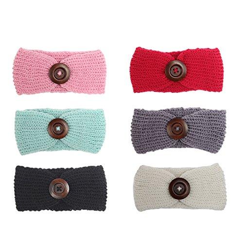 JMITHA Baby Stirnbänder Baby Mädchen Stretch Nett Kaninchenohren Gedruckt Turban Stirnband Kopf Verpackung Haarband (H55)