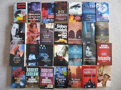 Konvolut Sammlung 28 Tachen-Bücher Romane Krimi Thriller Spannung Bestseller