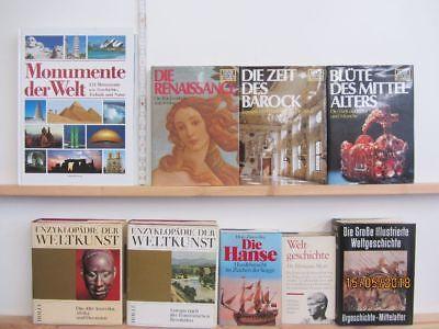 18 Bücher Bildbände Kunst Kultur Geschichte Weltgeschichte Paket 1