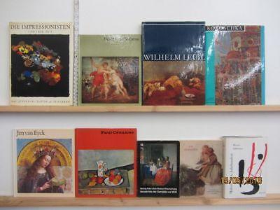 48 Bücher Bildbände Maler Malerei Künstler Gemälde Leibl Rubens Cezanne u.a.