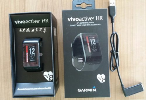 Garmin Vivoactive HR, schwarz Gr. M, OVP - top Zustand!