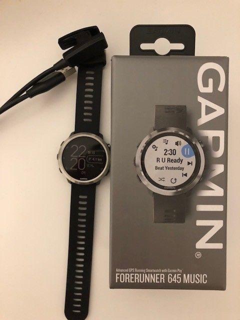 Garmin Forerunner 645 Music Sport Watch Black *NEU*