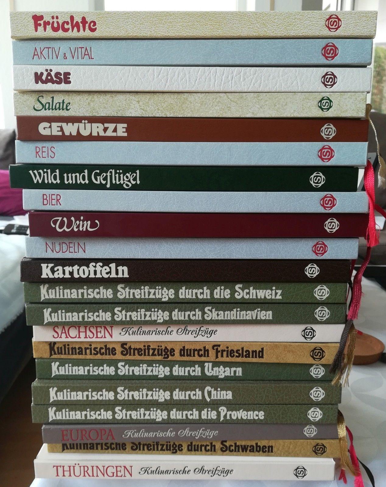 21 Kochbücher der Sigloch Edition Kulinarische Streifzüge
