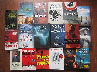Bücherpaket: 18 Krimis und Thriller /K