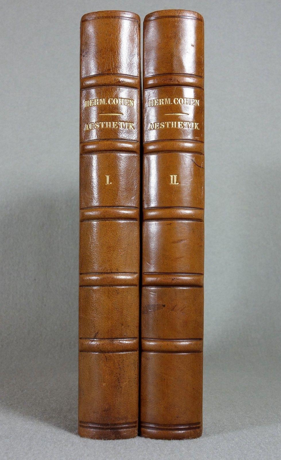 Hermann Cohen - LEDER Philosophie Erstausgabe Judaica - RAR
