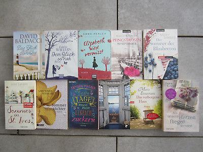 11 Romane Belletristik Buchpaket Bücherpaket Sammlung Konvolut Taschenbücher geb